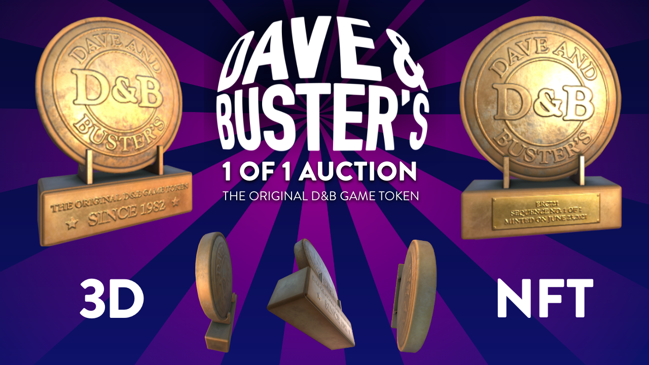 Sweet and Dave & Buster's Launch Uber-Rare NFT Auction to Benefit Make-A-Wish